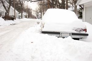 car burried in snow